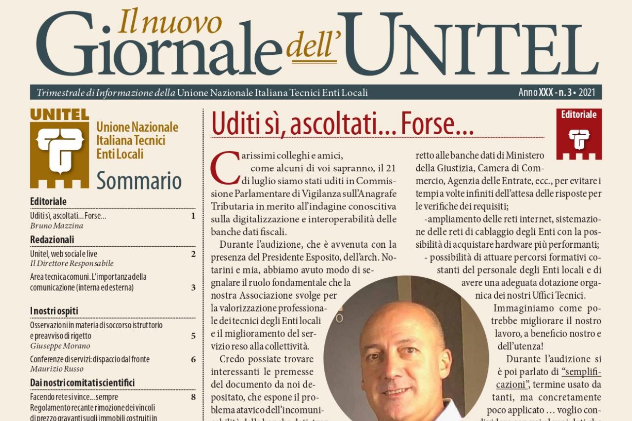 Il Nuovo Giornale dell'Unitel: online il terzo numero